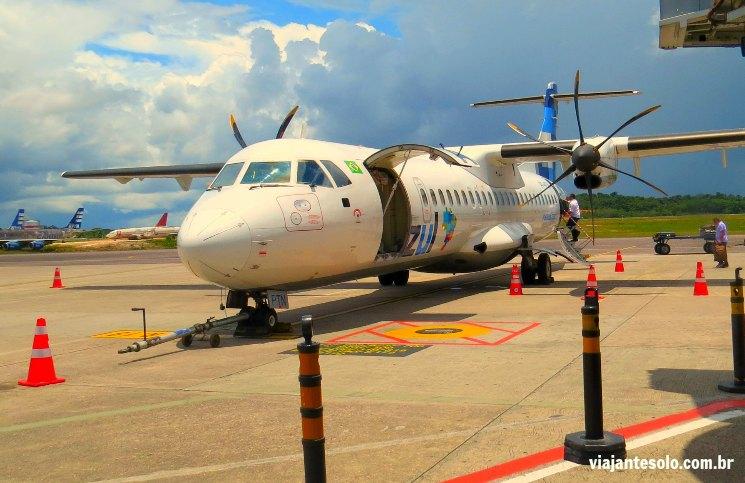 Avião ATR 72 Azul Parintins | Viajante Solo
