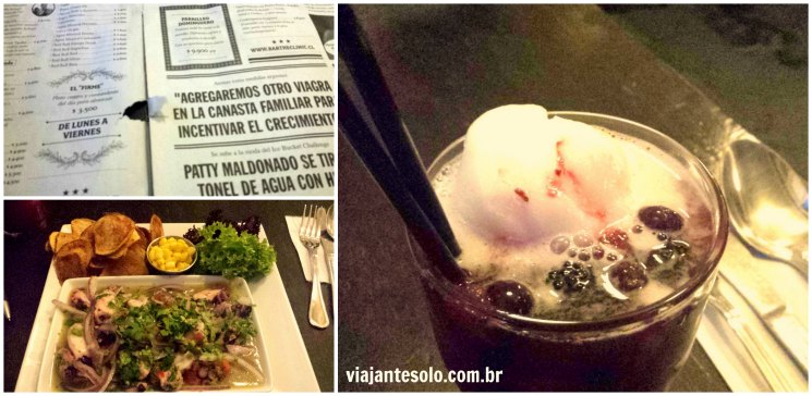Bar The Clinic Cardápio e Comidinhas Santiago | Viajante Solo