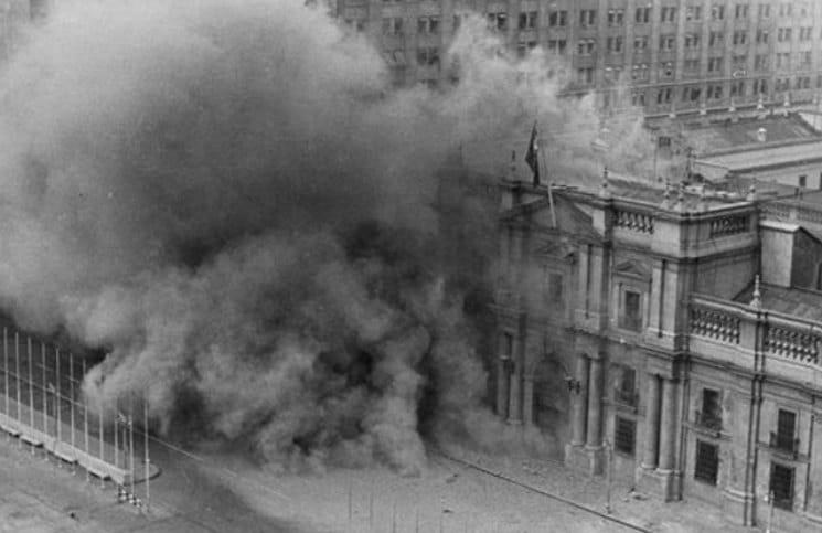 Salvador Allende, Filme - Bombardeio Palacio de la Moneda