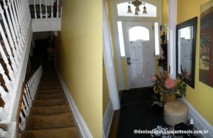 Escada e Porta de Entrada Comfy | Viajante Solo