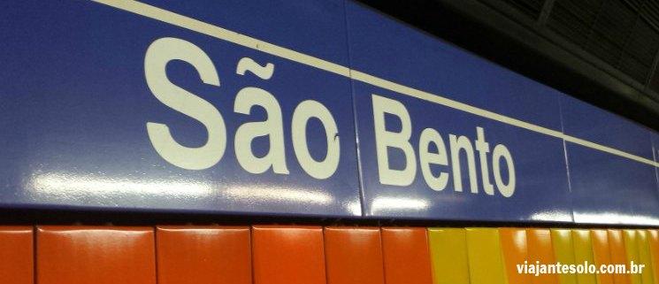 Estaçao Metrô Sao Bento Sao Paulo | Viajante Solo