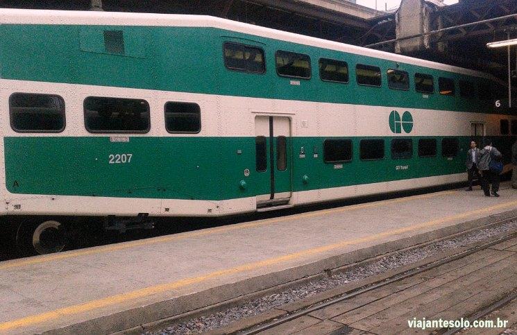 Go Transit Trem Toronto | Viajante Solo