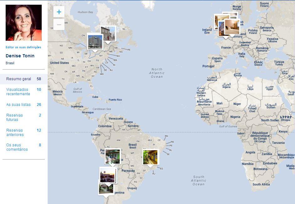 Mapa de Viagens Booking | Viajante Solo