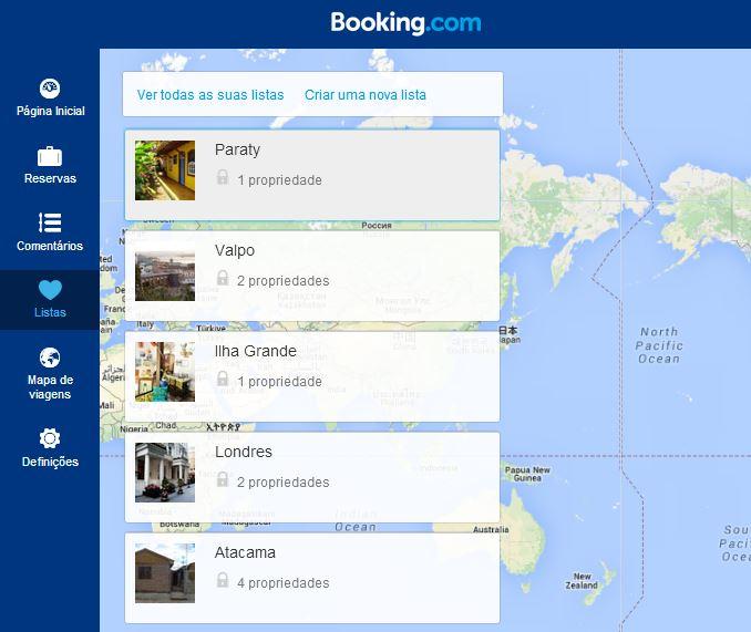 Pagina Listas Booking | Viajante Solo