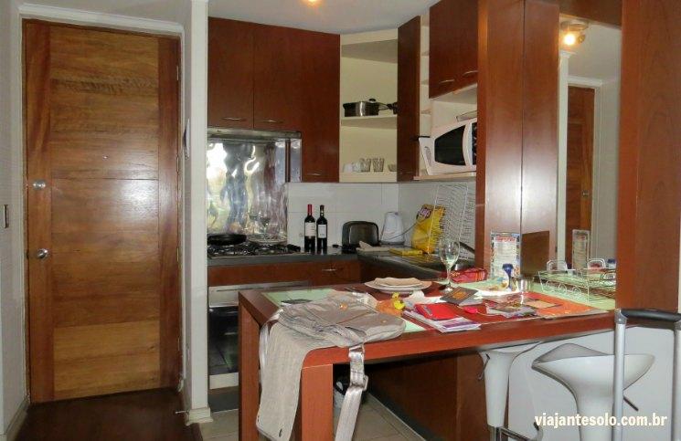 Santiago Centro Rent Apart Cozinha | Viajante Solo