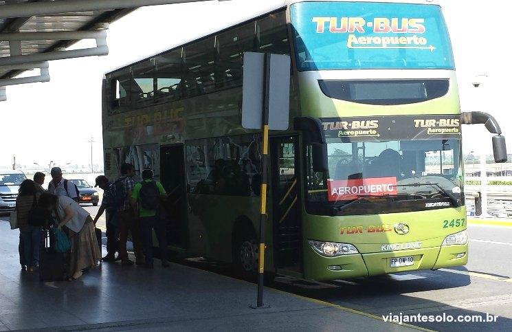 como ir do aeroporto ao centro da cidade Tur-Bus | Viajante Solo