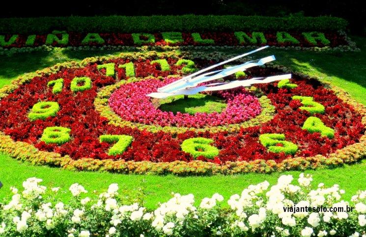 plantas cidade jardim : plantas cidade jardim:Viña del Mar: Reloj de Flores, a parada obrigatória da cidade jardim