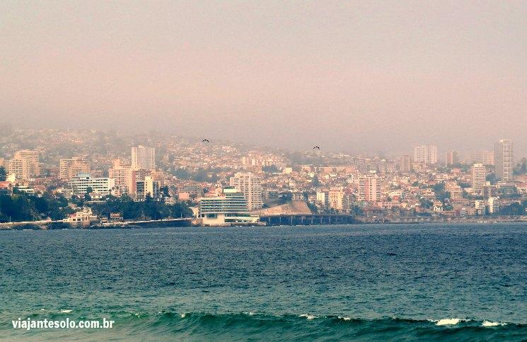 Vina Del Mar Vista para Valparaíso | Viajante Solo