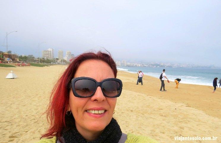 Vina del Mar Praia Playa Los Cañones | Viajante Solo