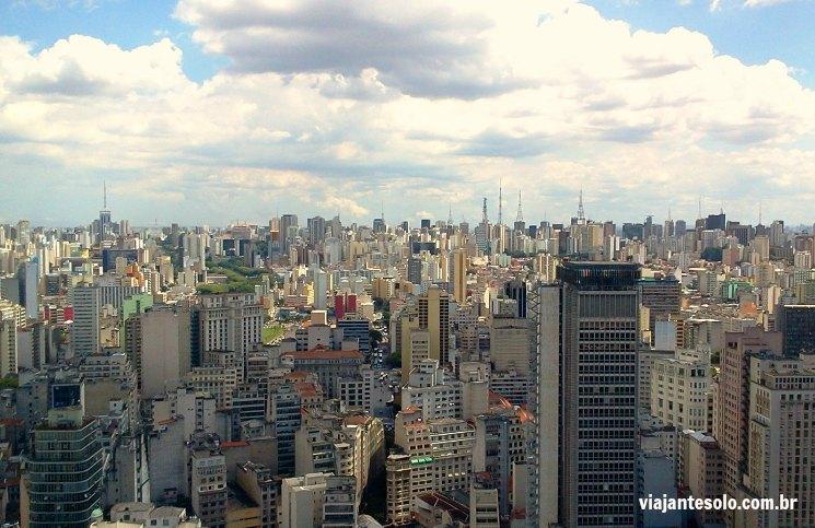 Vista da Torre do Banespa São Paulo | Viajante Solo