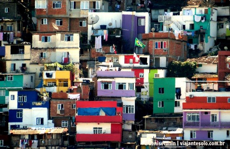 Vista da minha casa Favela Santa Marta | Viajante Solo