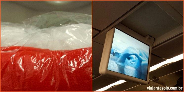 Voando com a LAN Cobertor e TV | Viajante Solo